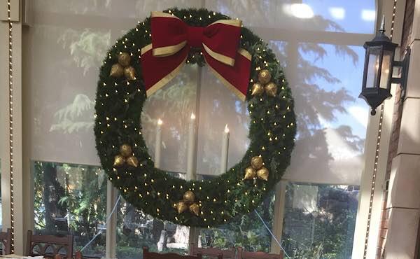 パークサイド・グリルのクリスマスリース