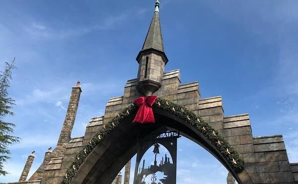 ハリー・ポッターエリアのクリスマス