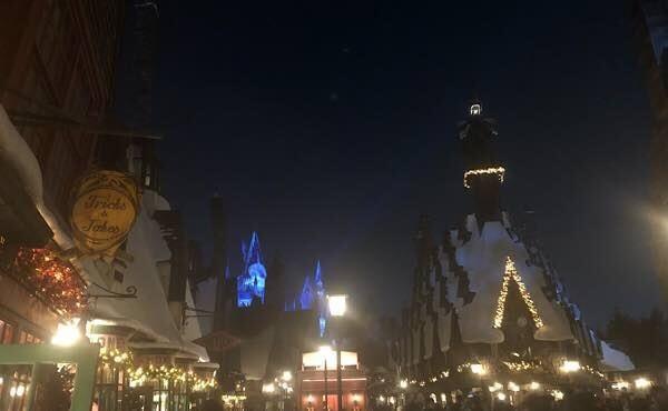 ハリーポッターエリアのクリスマス